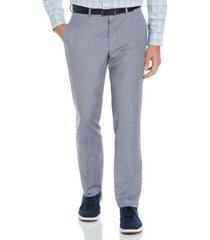 perry ellis men's slim fit linen blend textured suit pant