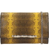 red valentino clutch in yellow leather
