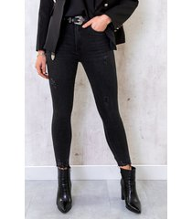 skinny high waisted jeans dark grey