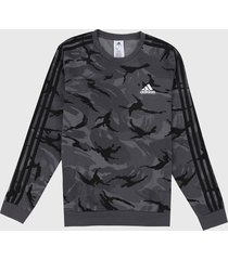 buzo gris-negro adidas performance essentials camouflage