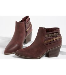 maurices womens april braid wrap ankle bootie red