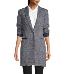 textured notch lapel coat