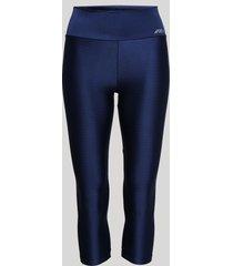 calça corsário feminina esportiva ace texturizada azul marinho