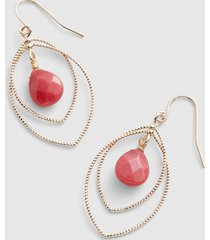 lane bryant women's coral stone layered drop earrings onesz starfish coral