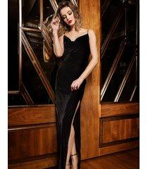 sukienka aksamitna wieczorowa