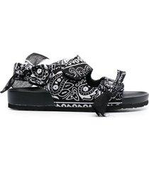 arizona love apache bandana-print sandals