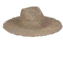 women's lack of color sunny zip fedora hat - brown