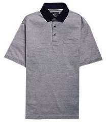 traveler collection traditional fit stripe short-sleeve men's polo shirt - big & tall clearance