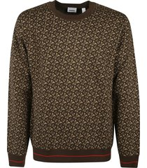 burberry all-over logo print sweater