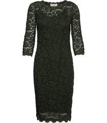 dress 3/4s jurk knielengte groen rosemunde