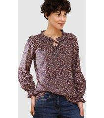 blouse dress in marine::terracotta