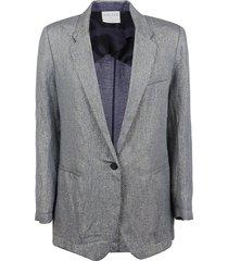 forte forte lurex diagonal jacket