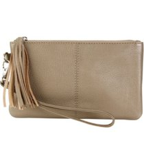 hadaki genuine leather essential wristlet