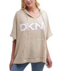dkny logo poncho sweatshirt