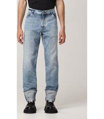 balmain jeans balmain 5-pocket jeans in washed denim