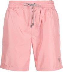 dolce & gabbana logo swim shorts - pink