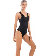 body en lycra y malla en laterl1668n01l negro  options intimate