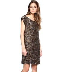 sukienka cekinowa złoto-brązowa