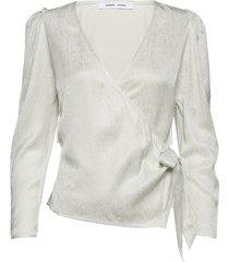 magnhild blouse 12733 blouse lange mouwen wit samsøe & samsøe