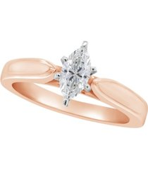 certified marquise diamond solitaire engagement ring (1/2 c.t. t.w.) in 14k white gold, rose gold, or yellow gold