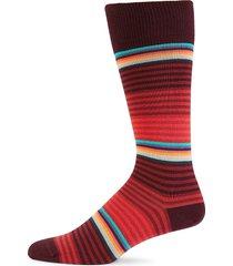 paul smith men's striped crew socks - red multi