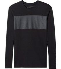 camiseta john john ml plastic john malha algodão preto masculina (preto, gg)