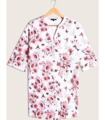 vestido corto estampado manga ¾-10