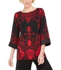 jm collection petite drop shoulder satin tunic, created for macy's