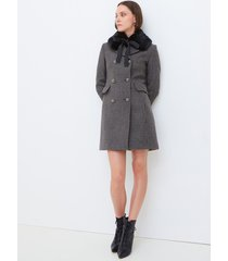 motivi cappotto lungo premium edition made with love donna grigio