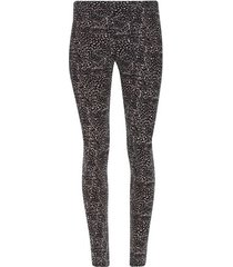 leggings sport troquelado color negro, talla l
