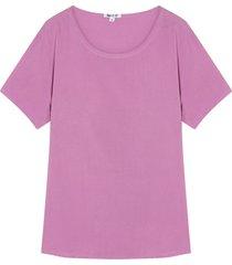 blusa suelta unicolor color morado, talla18