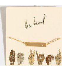be kind pull tie bracelet - gold