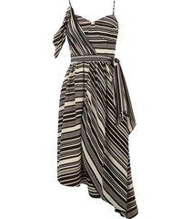 asymmetrische midi-jurk