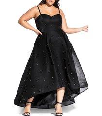 plus size women's city chic sweet jewel evening dress