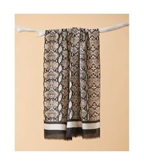 lenço estampado - lenço fitz cor: preto - tamanho: único