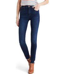 women's madewell 10-inch high rise skinny jeans, size 26 - blue