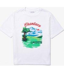 lacoste cotton chantaco graphic t-shirt