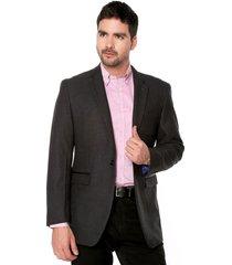 blazer negro preppy 4 bolsillos con tapa - charretera