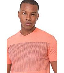 camiseta calvin klein lettering laranja