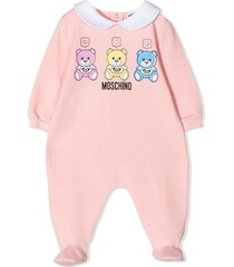moschino teddy bear print jumpsuit