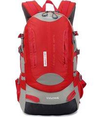 mochila/ 40l hikingbag nylon impermeable viaje al aire libre