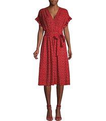 printed knee-length wrap dress