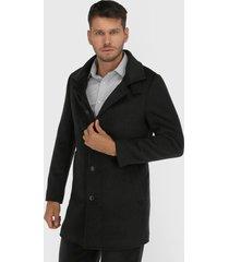 abrigo van heusen gris - calce regular