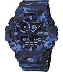 relógio casio g-shock ga-700cm-2adr resistente a choques