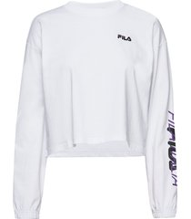 women calandra cropped long sleeve shirt crop tops wit fila