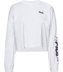 women calandra cropped long sleeve shirt crop tops wit fila