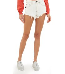 shorts john john boy iarem jeans off white feminino (jeans claro, 50)