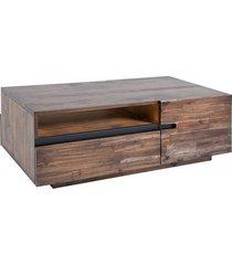 stolik kawowy z boxem wotan drewno akacjowe 115cm