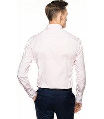 koszula bexley 2493 długi rękaw slim fit róż