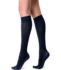 calzedonia 40 denier sheer knee-high socks woman black size s/m
